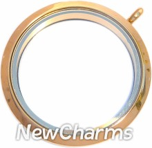 TG12 Stainless Steel Gold XL Round Locket