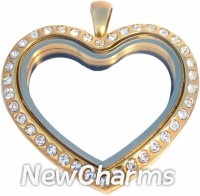 VG21 Versatile Loose Gold CZ Medium Round Locket