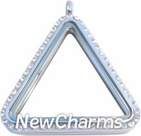 SS71 Stainless Steel Triangle CZ Locket