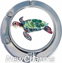 PH9042 Watercolor Turtle Foldable Purse Hanger