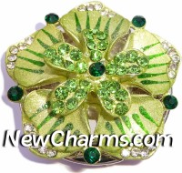 PH8160 Green Stone Raised Flower Foldable Purse Hanger