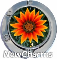 ORANGE FLOWER PHOTO PURSE HANGER