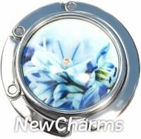 PH9006 Blue Flowers Foldable Purse Hanger
