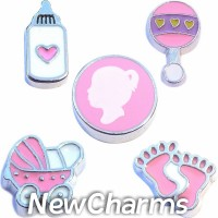 CSL103 Beautiful Baby Girl Charm Set for Floating Lockets