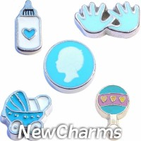 CSL104 Bouncing Baby Boy Charm Set for Floating Lockets