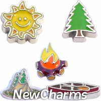CSL106 Campfire Stories Charm Set for Floating Lockets