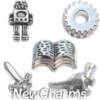 CSL108 Epic Storytime Charm Set for Floating Lockets
