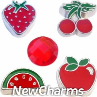 CSL110 Fruitastic Red Fruit Charm Set for Floating Lockets