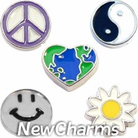 CSL112 Good Vibes Charm Set for Floating Lockets