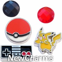 CSL113 Gotta Catch Em All Charm Set for Floating Lockets