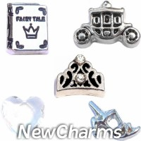 CSL114 Happily Ever After Charm Set for Floating Lockets