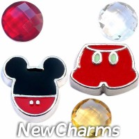 CSL115 Hey Mickey Charm Set for Floating Lockets