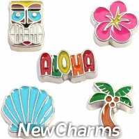 CSL117 Island Fever Tropical Paradise Charm Set for Floating Lockets