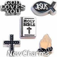 CSL119 Living by Faith Amen Charm Set for Floating Lockets