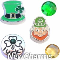 CSL120 Luck of the Irish Charm Set for Floating Lockets