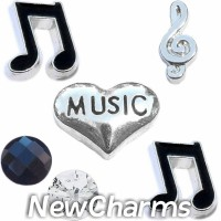CSL124 Name That Tune Music Charm Set for Floating Lockets