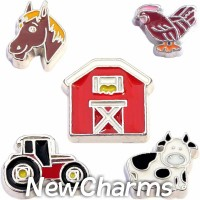 CSL125 Old MacDonald Had a Farm Charm Set for Floating Lockets