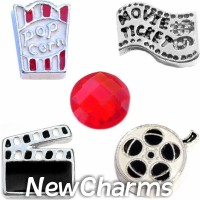 CSL131 Ready Set Action Movie Charm Set for Floating Lockets