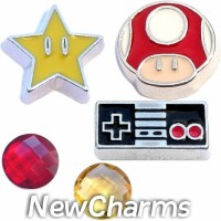 CSL132 Ready Set Game On Video Games Charm Set for Floating Lockets