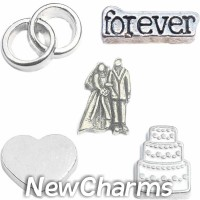 CSL134 Saying I Do Wedding Charm Set for Floating Lockets
