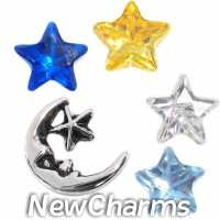 CSL135 Star Light Star Bright Celestial Charm Set for Floating Lockets