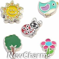 CSL137 Summer Time Living Charm Set for Floating Lockets