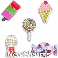 CSL138 Sweet Tooth Candy and Ice Cream Charm Set for Floating Lockets