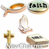 CSL141 I am a Believer Faith Charm Set for Floating Lockets