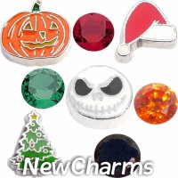 CSL144 What a Nightmare Christmas Holiday Charm Set for Floating Lockets