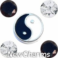 CSL150 Light and Dark Yin Yang Charm Set for Floating Lockets