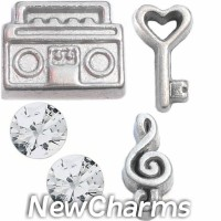 CSL152 Music is the Key Charm Set for Floating Lockets