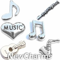 CSL153 Soul Sounds Musical Set Charm Set for Floating Lockets