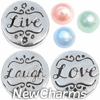 CSL158 Live Laugh Love Caring Charm Set for Floating Lockets