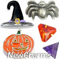 CSL164 Witching Hour Halloween Charm Set for Floating Lockets
