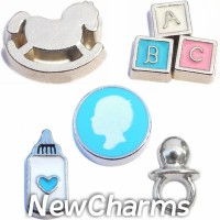CSL169 Little Mister Baby Boy Charm Set for Floating Lockets