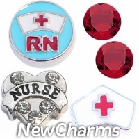 CSL171 Nurse Medical Charm Set for Floating Lockets