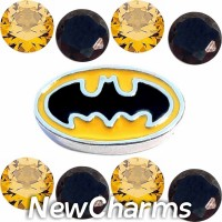 CSL172 Pow Bam Batman Superhero Charm Set for Floating Lockets