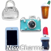 CSL175 Accessories and Gadgets Charm Set for Floating Lockets