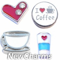 CSL177 But First Coffee Charm Set for Floating Lockets