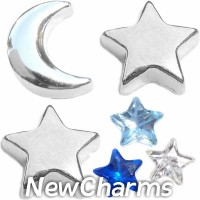 CSL178 Starry Nights Celestial Charm Set for Floating Lockets