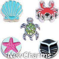 CSL180 Under the Sea Ocean Themed Charm Set for Floating Lockets