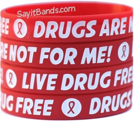 Red Ribbon Week Drugs are not for me Wristbands
