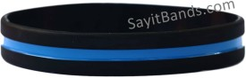 thin blue line wristbands