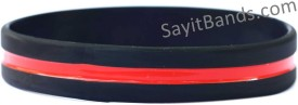 thin red line wristbands