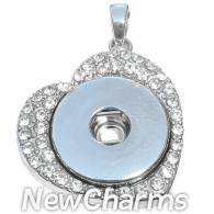 GA102 One Snap Heart With CZs Pendant