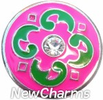 GS309 Catalina Pink And Green Snap Charm