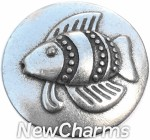 GS325 Silver Fish Snap Charm