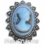 GS502 Fancy Blue Cameo Snap Charm