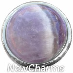 GS510 Lavender Chalcedony Snap Charm