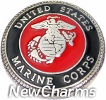GS683 United States Marine Corps Snap Charm